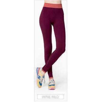 Harga High Quality Women Yoga Pant, Sport, Zumba, Fitness Gym Stretch Pant Trouser, Exercise, Jog, Legging (Red)