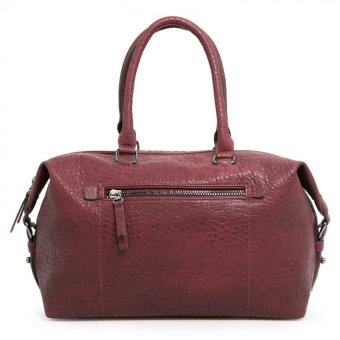 Harga Mango Pebbled weekend Bag - Maroon