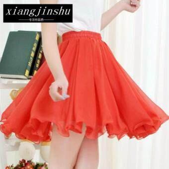 Harga Korean Style Skirt C80 - 9076 - Red