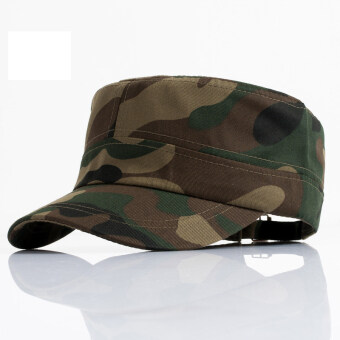 Harga AOSEN FASHION Camouflage flatcap dome hat multicolor camouflage cap wholesale outdoor leisure Army green