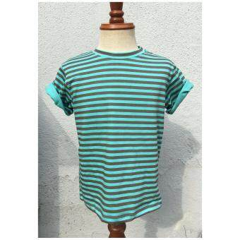 Harga DESTYLIO Boys Short Sleeve Top With Printed Stripe (Green)