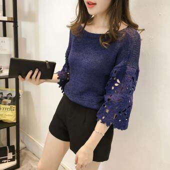 Harga JYS Fashion : Korean Style Knit Top Collection 90 195-Blue