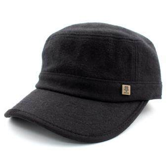Harga DOSSCAPS Wool Army Cap (Black)