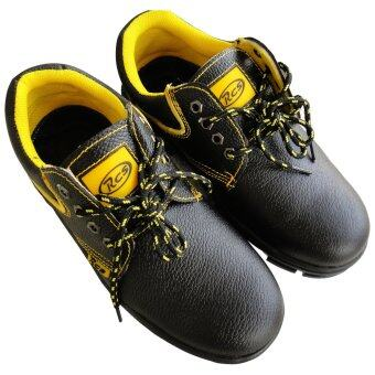 Harga RCS Steel Safety Shoe, Cow Leather, Low Cut Boot (Black) - Static, Fire Retardant Safety Shoe