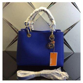 Harga Michael Kors Cynthia Small Leather Satchel - Royal Blue