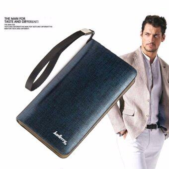 Harga Rich Men Style Long Wallet Blue