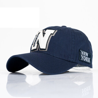 Harga AOSEN FASHION The new tide letter N baseball cap hat man s casual couple Ms. sun hat Dark blue