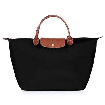 Harga LONGCHAMP LE PLIAGE MEDIUM HANDBAG 1623089 (BLACK)