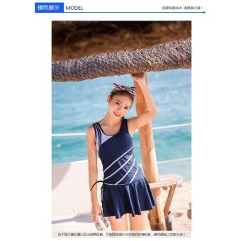 Harga 970140SWBL 【Ready Stock Fast Delivery】 Korean Fashion Swim Suit 3pcs Sets