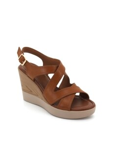 Harga Bata Women - BZ01 Wedge Sandals (Camel)