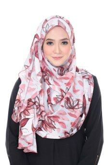 Harga Benang Hijau Ashley Premium Shawl - Peach Butterfly