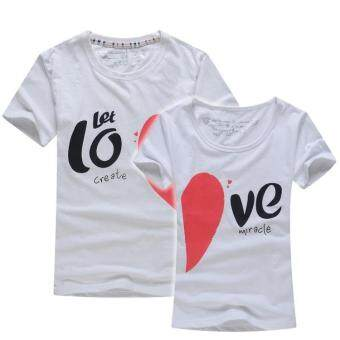 Harga White Heart Couple T-Shirt (Price for One T-Shirt)