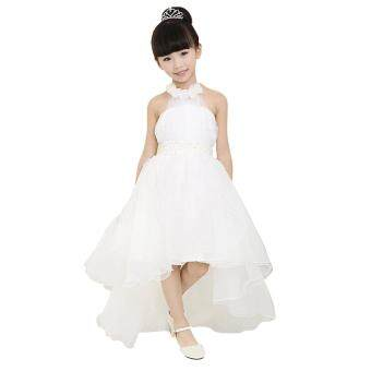 Harga MG Children Mesh Halter High Waist Asymmetrical Hem Ball Gown Tutu Dress