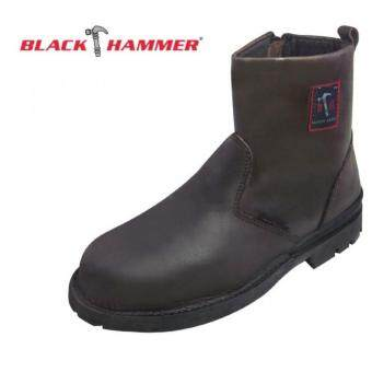 Harga BH-4664 BLACK HAMMER SAFETY SHOE, 4000 Series Mid cut Slip on with Zip Safety Shoes, Workforce Shoe, Ankle Boots