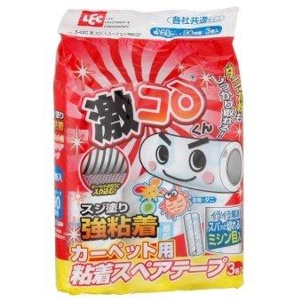 Japan Impor LCE Ganti Stiker Kuat Tangan Tear Karpet Sofa Linen Rambut untuk Membersihkan Sticky Rambut Tabung 3 P- internasional