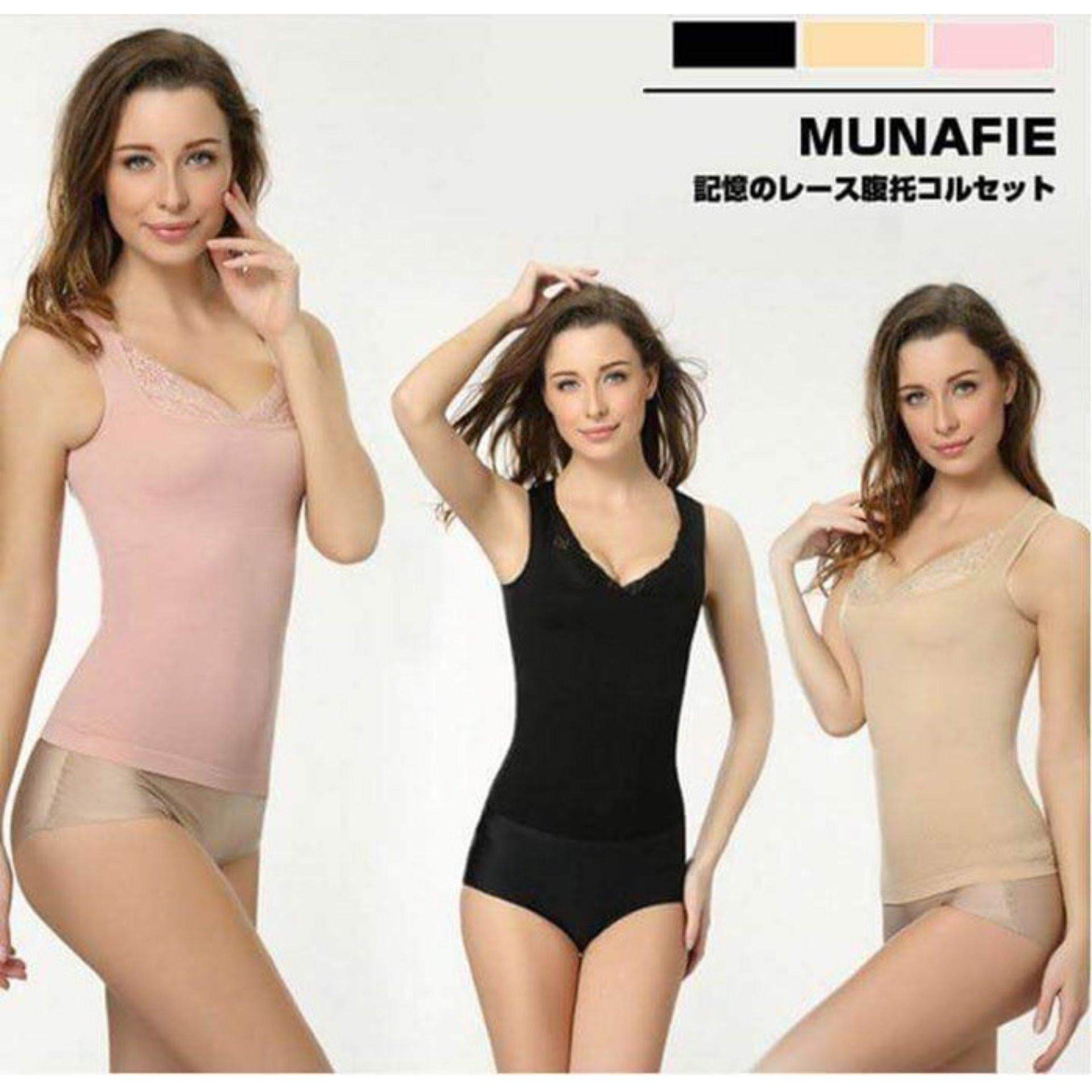 478682a3210fc Japan s Top Selling Munafie Slimming Shapewear Singlet- LOCAL SELLER - Clearance  Sale NUDE SIZE L