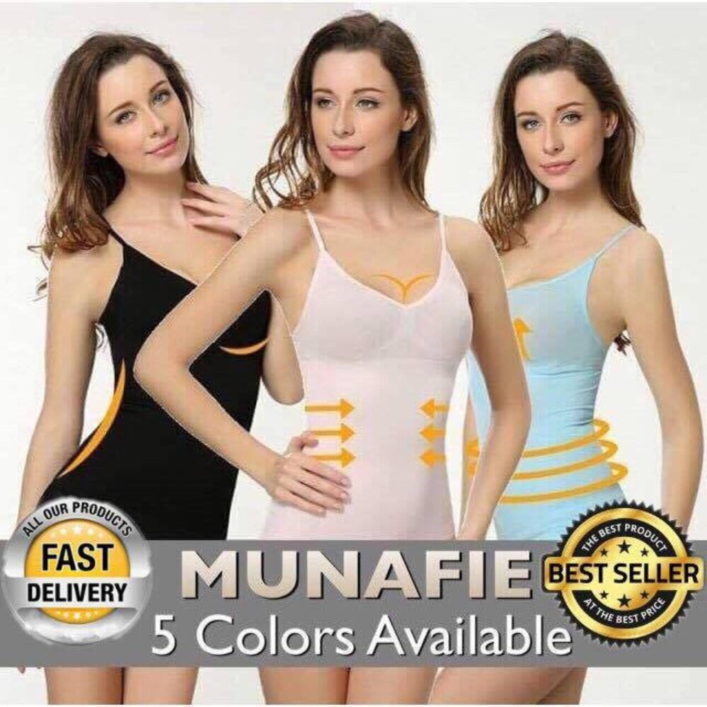 Japan\'s Top Selling Munafie Slimming Shapewear Singlet- LOCAL SELLER - Clearance Sale NUDE SIZE M