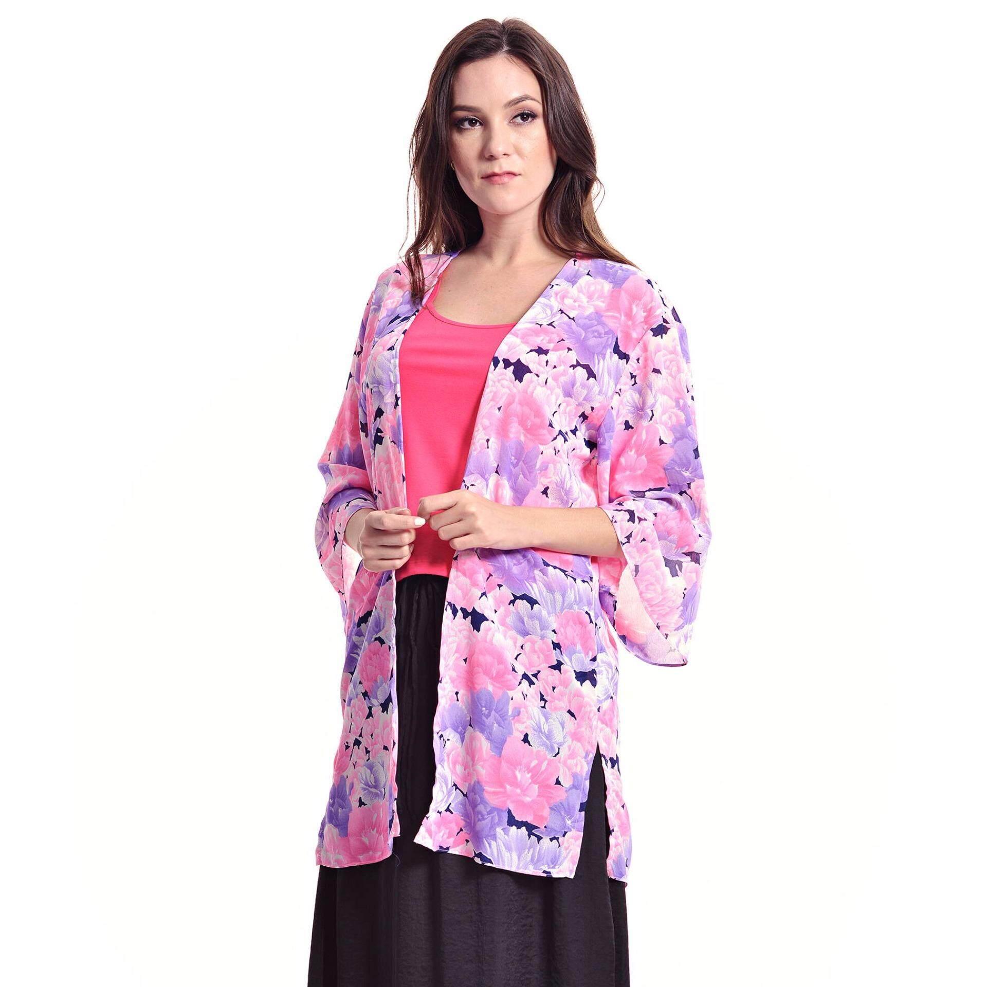 Jazz & Co Floral Long Cardigan ( Pink)