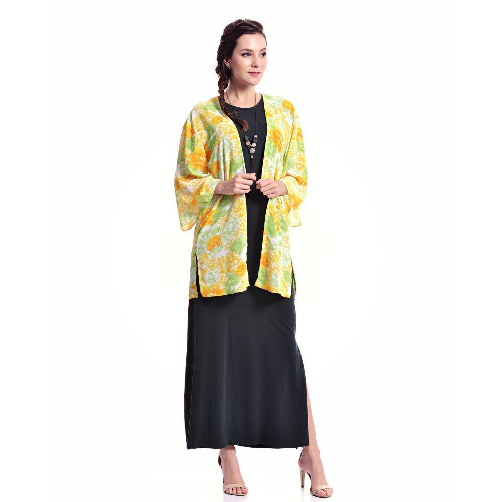 Jazz & Co Floral Long Cardigan ( Yellow)