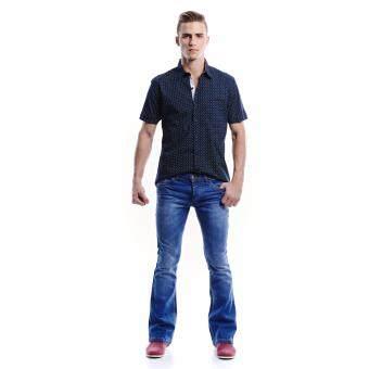 Jazz & Co Men Mid Rise Bootcut Jeans ( Indigo) - 2