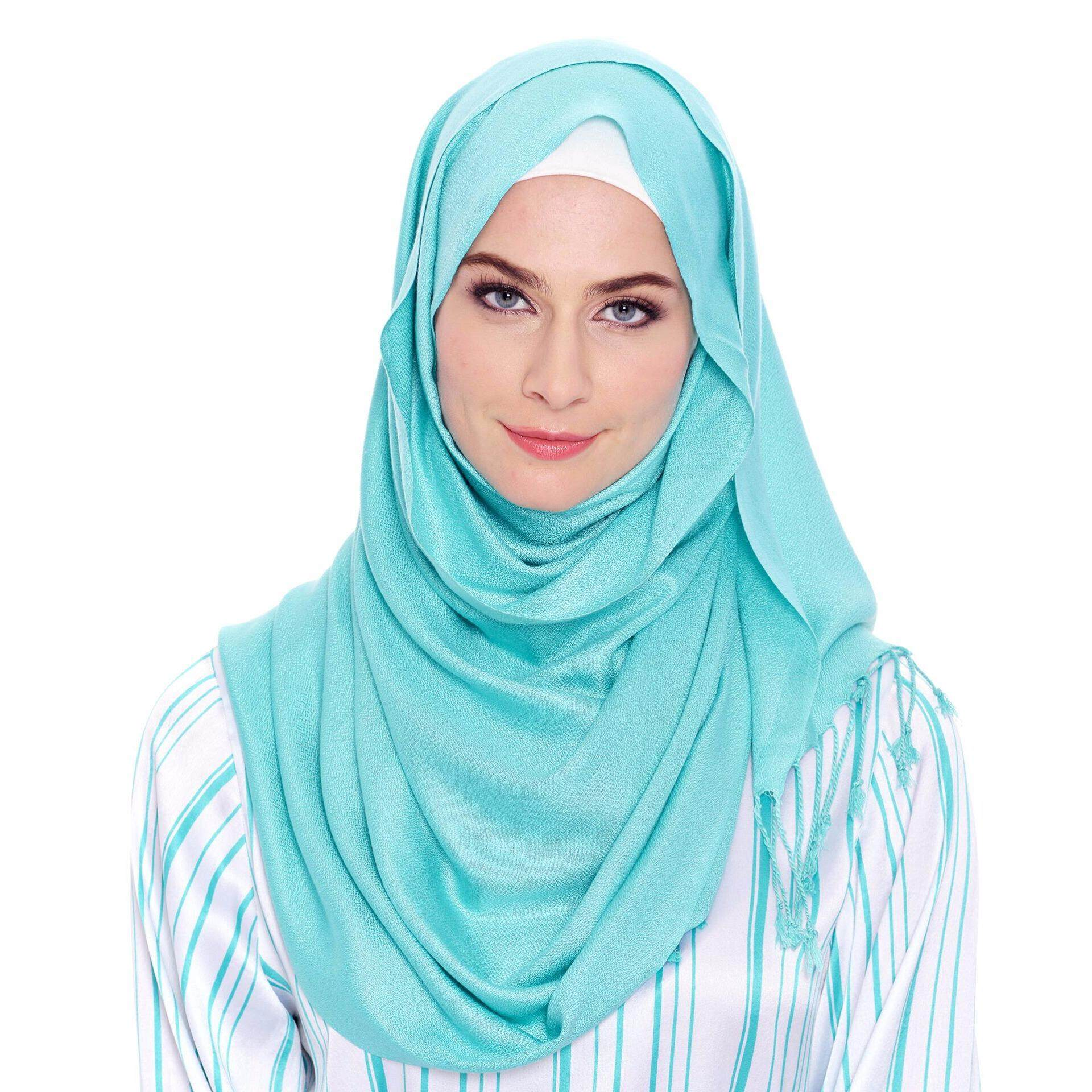 Jazz & Co Rectangle Solid Scarf  ( Lt Blue)