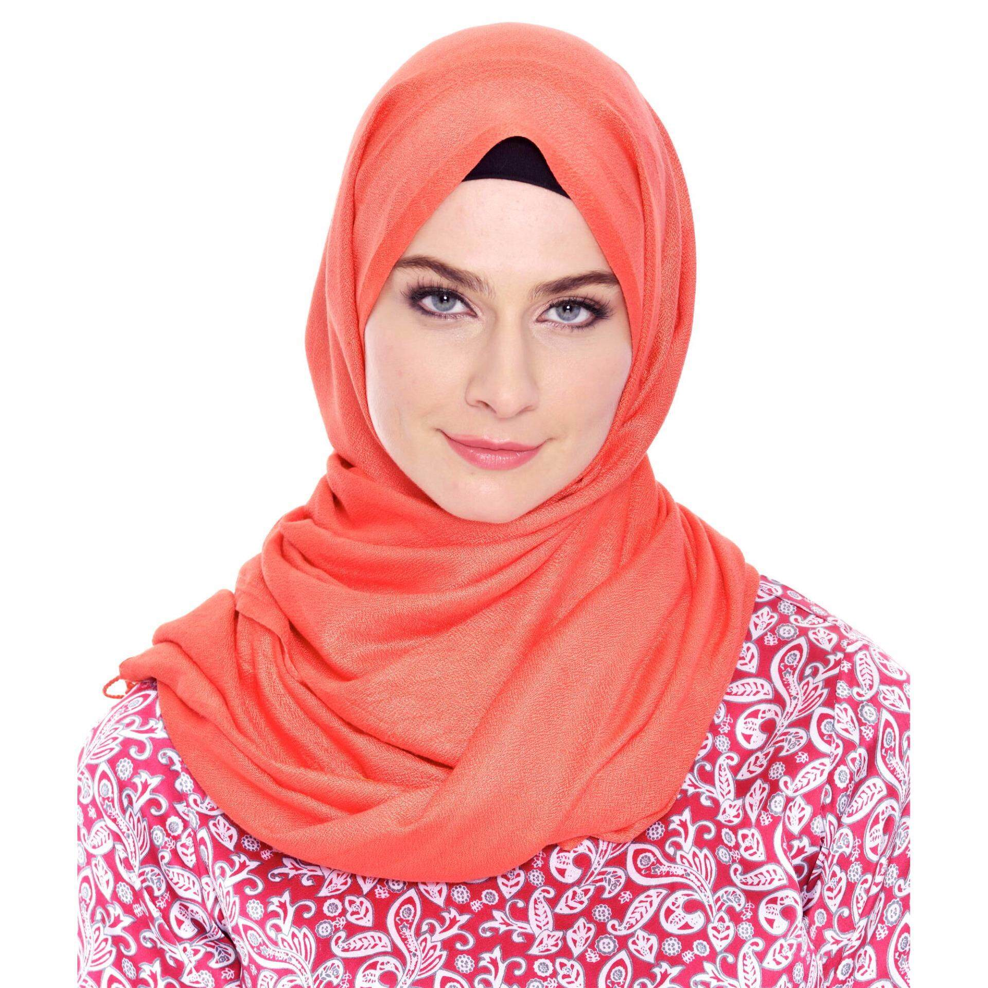 Jazz & Co Rectangle Solid Scarf  ( Peach)