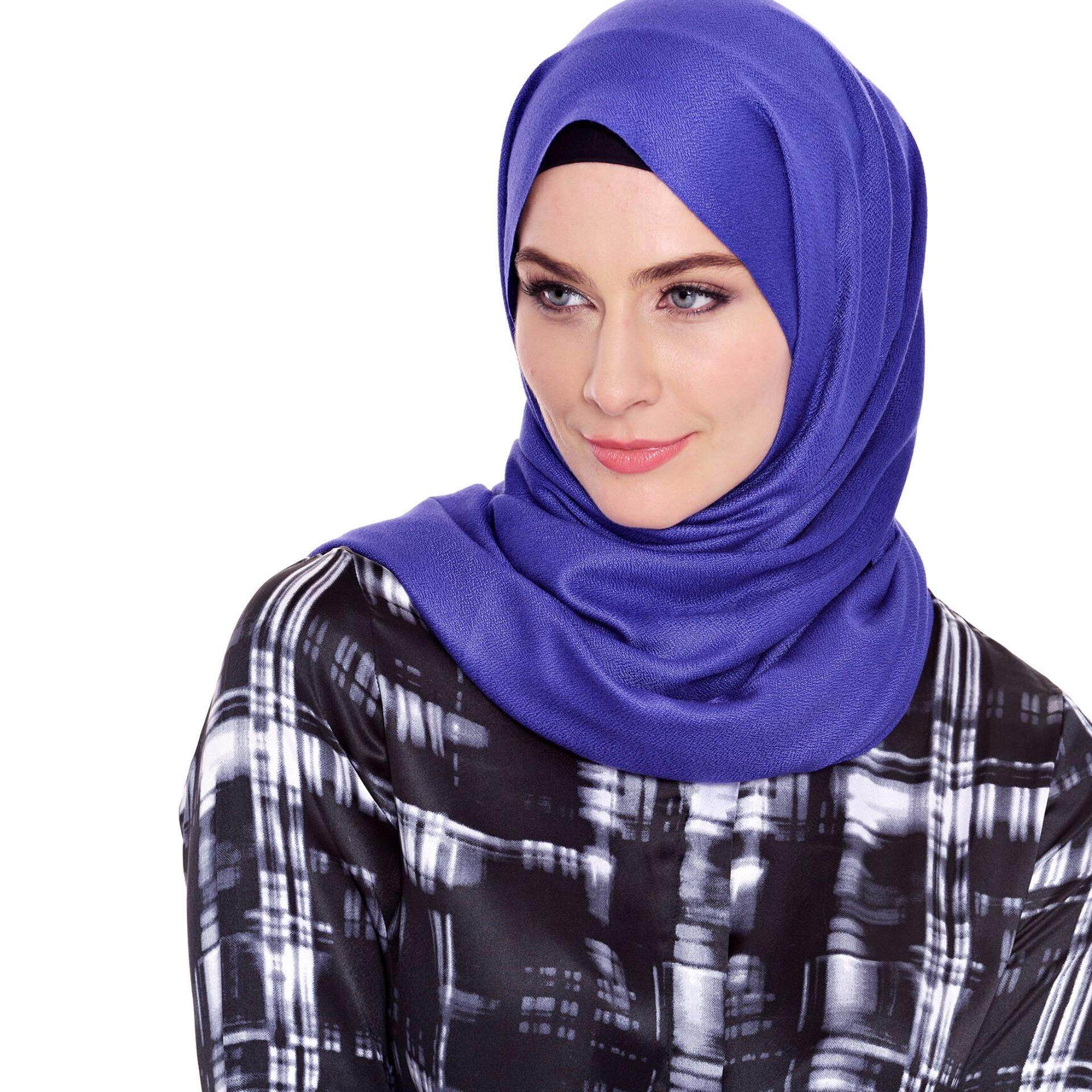Jazz & Co Rectangle Solid Scarf  ( Royal)