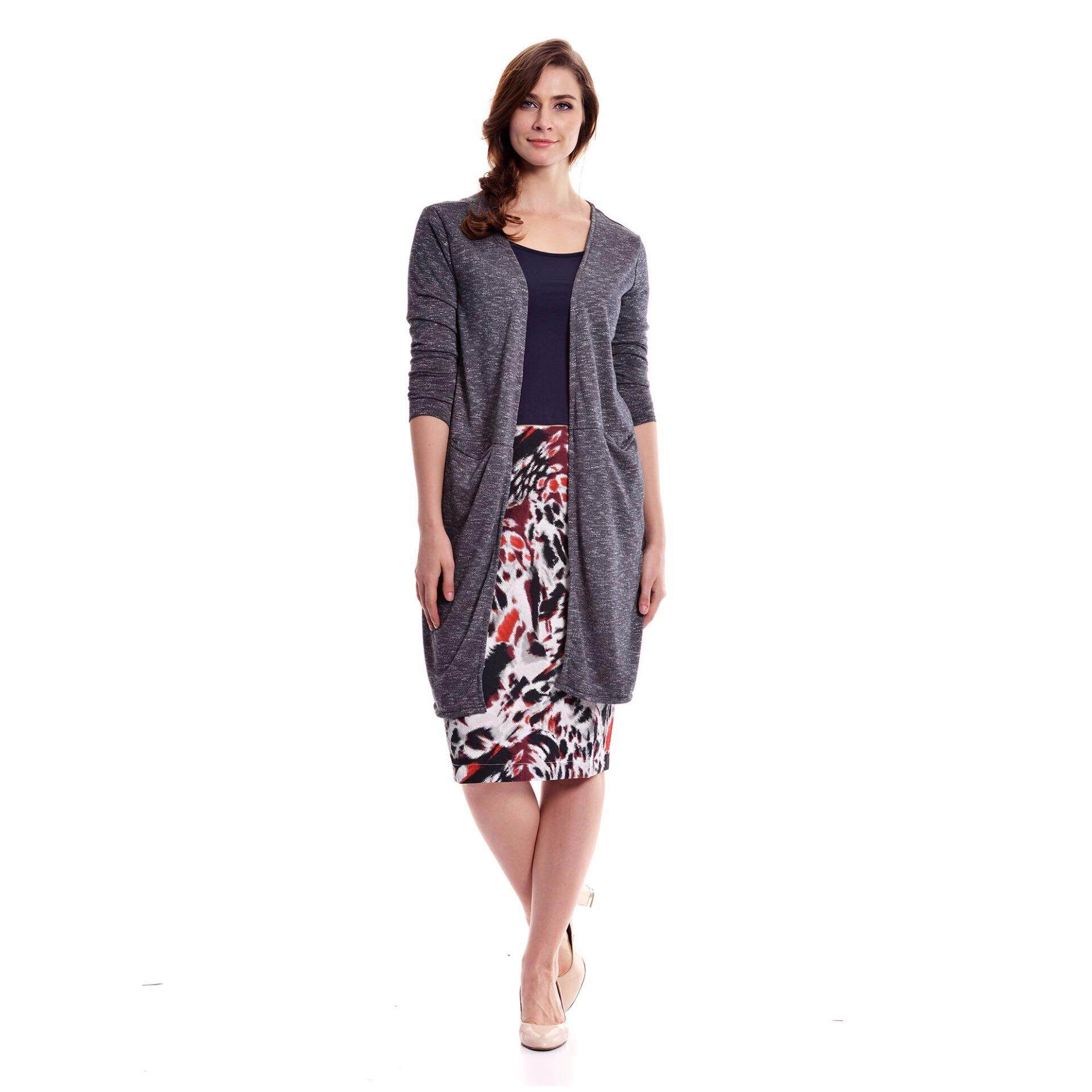 Jazz & Co Women Plus Long Outerwear ( Dk Grey)