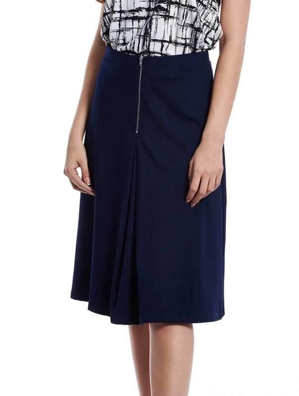 Jazz & Co Women Midi Plain Skirts (Navy )