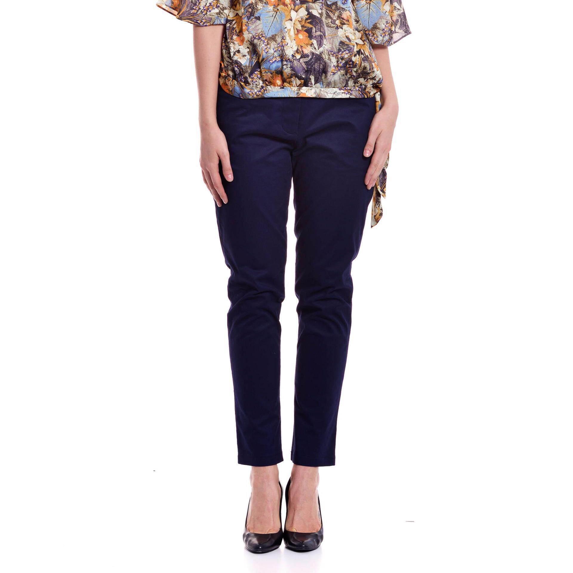 Jazz & Co Women Plus Regular Pant ( Navy)