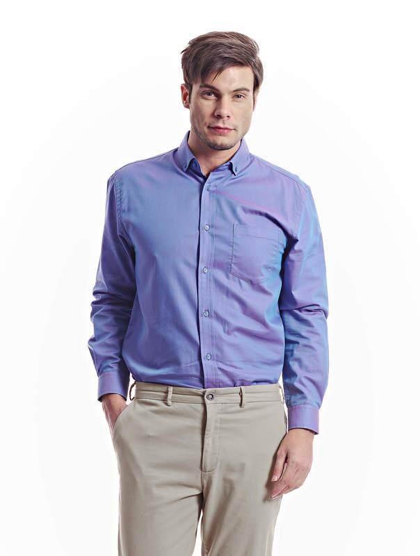 Jazz & Co Men blue long sleeve shirt (blue )