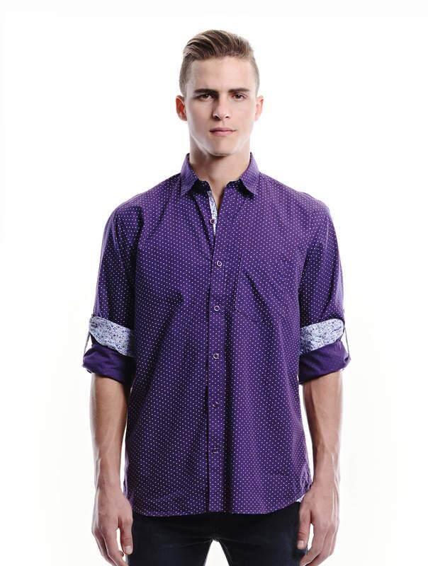 Jazz & Co Men dark purple long sleeve shirt ( dark purple )
