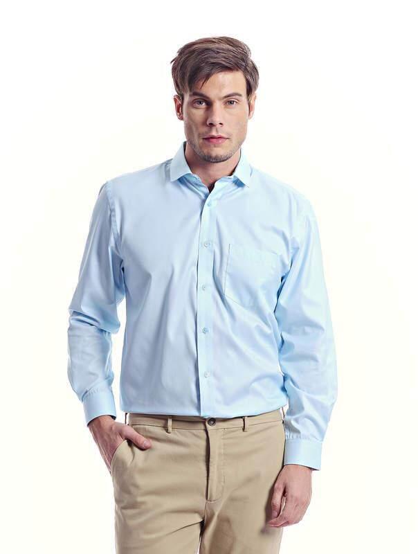 Jazz & Co Men light blue long sleeve distinctive shirt ( light blue )