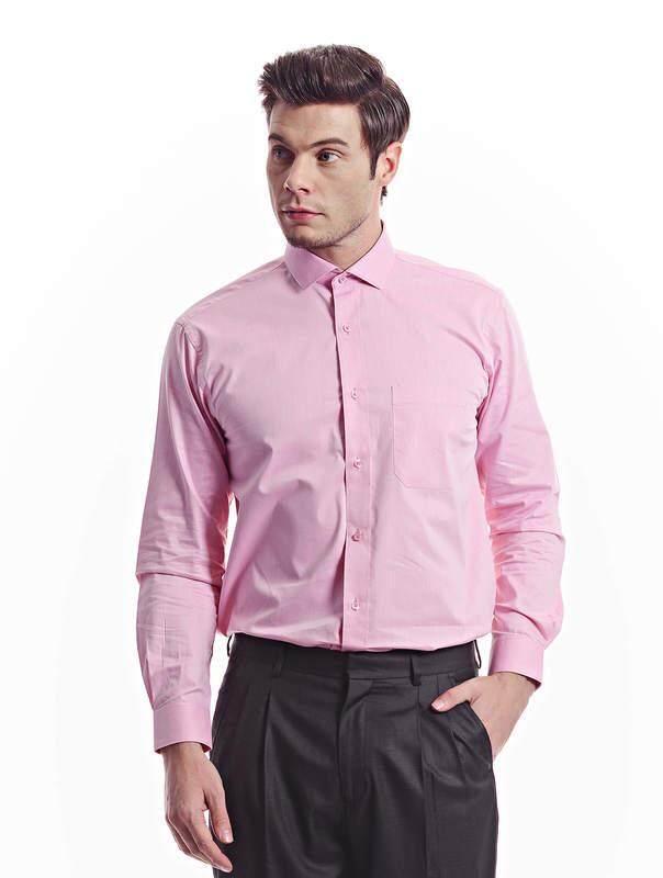 Jazz & Co Men light pink long sleeve shirt ( light pink )