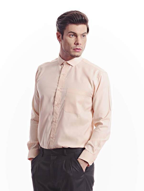 Jazz & Co Men light yellow long sleeve shirt ( light yellow )