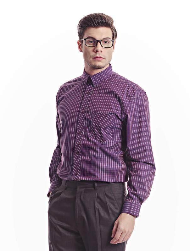 Jazz & Co Men maroon long sleeve shirt ( maroon )