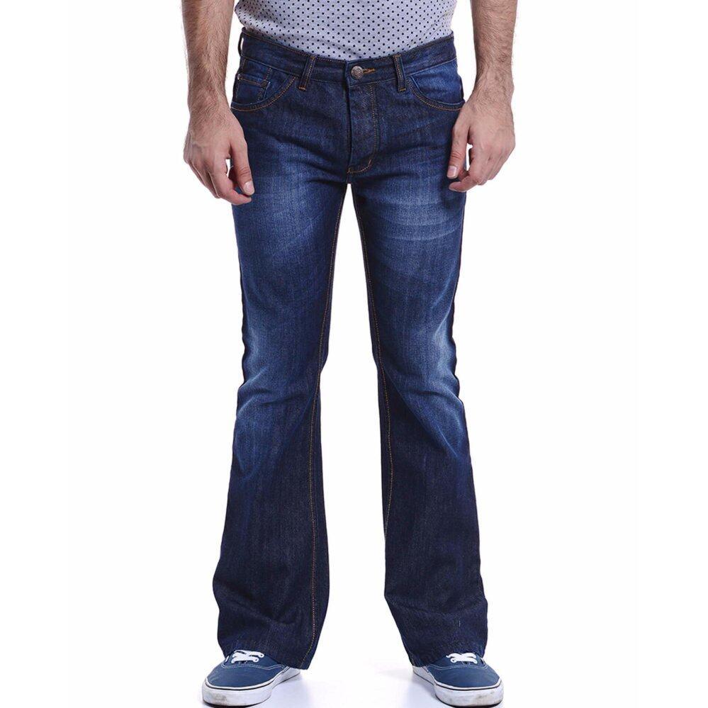Jazz & Co Men Mid Rise Bootcut Jeans ( Indigo)