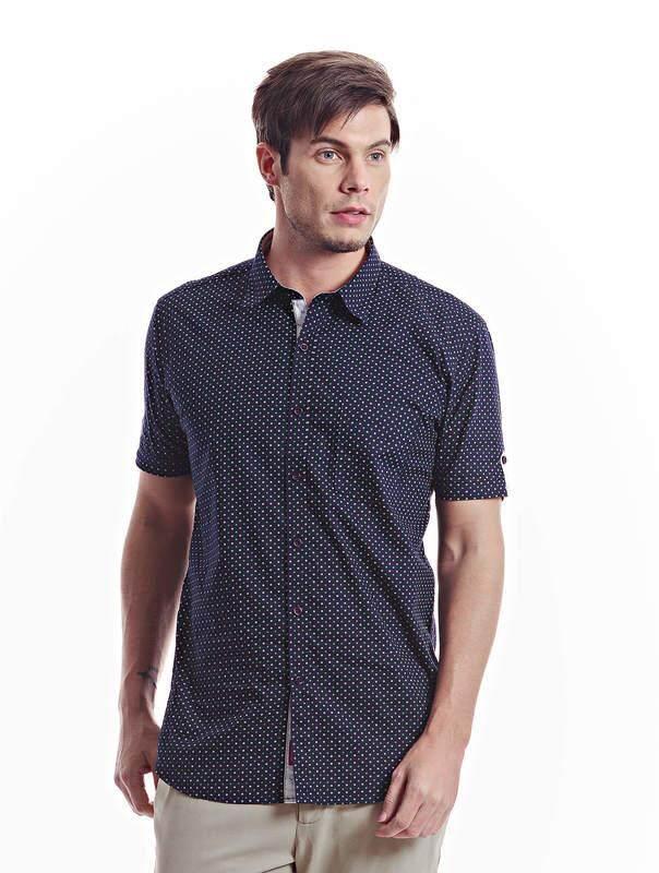 Jazz & Co Men navy short sleeve shirt ( navy )