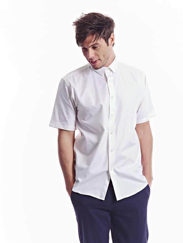 Jazz & Co Men off white short sleeve comfort shirt ( off white )