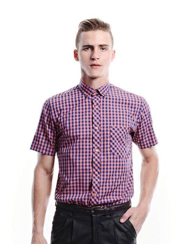 Jazz & Co Men orange short sleeve shirt ( orange )