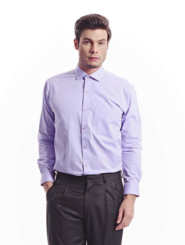Jazz & Co Men purple long sleeve shirt (purple )