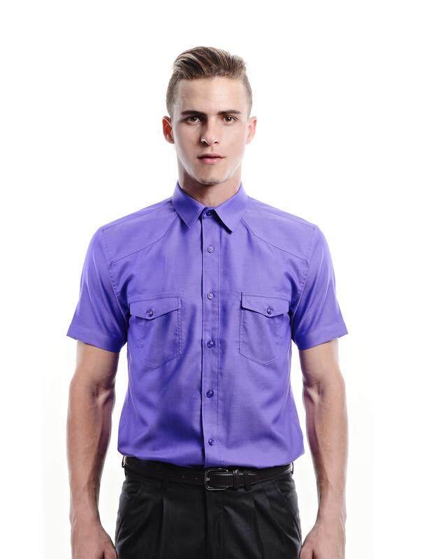 Jazz & Co Men purple short sleeve shirt ( purple )