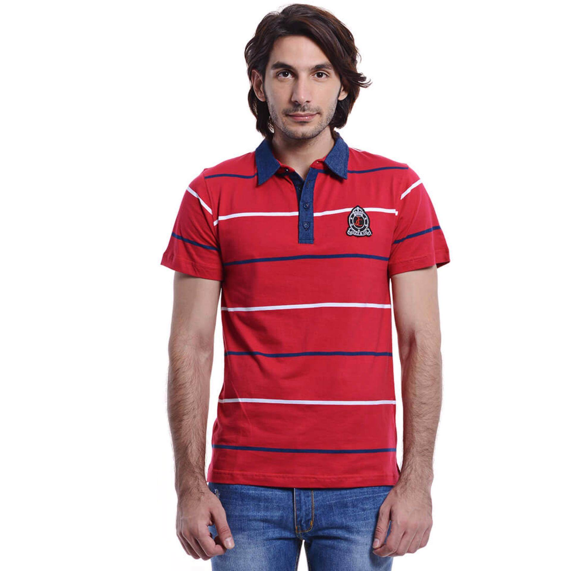 Jazz & Co Men Short Sleeve Polo Tee ( Red)