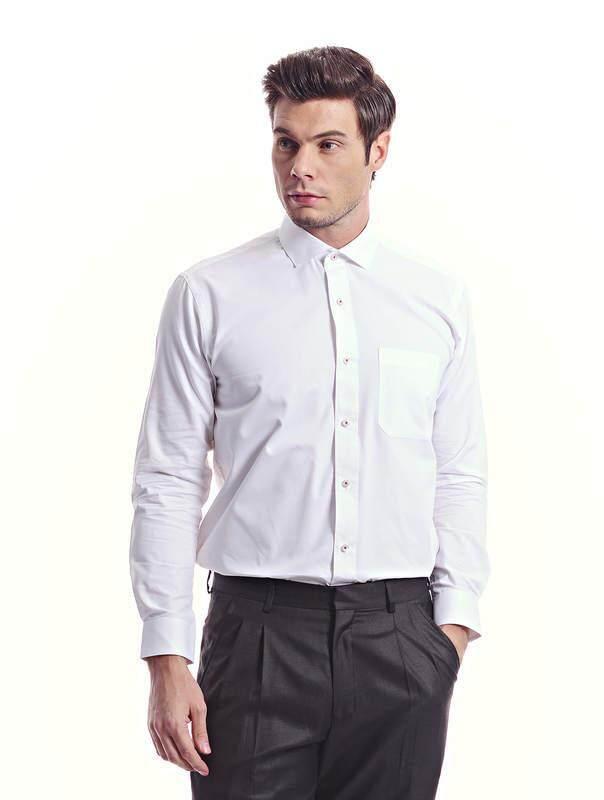 Jazz & Co Men white long sleeve shirt (white )