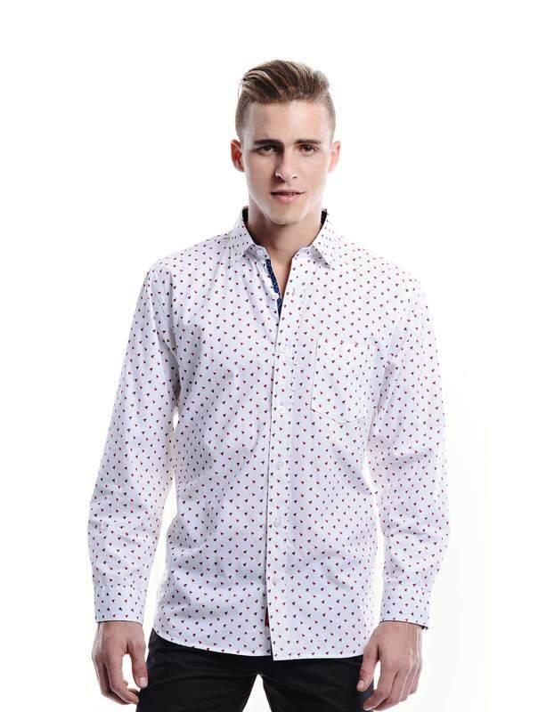 Jazz &Co Men white long sleeve shirt (white )