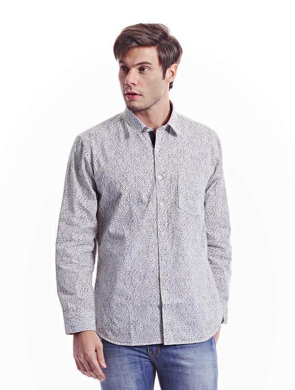 Jazz & Co Men white long sleeve shirt ( white )