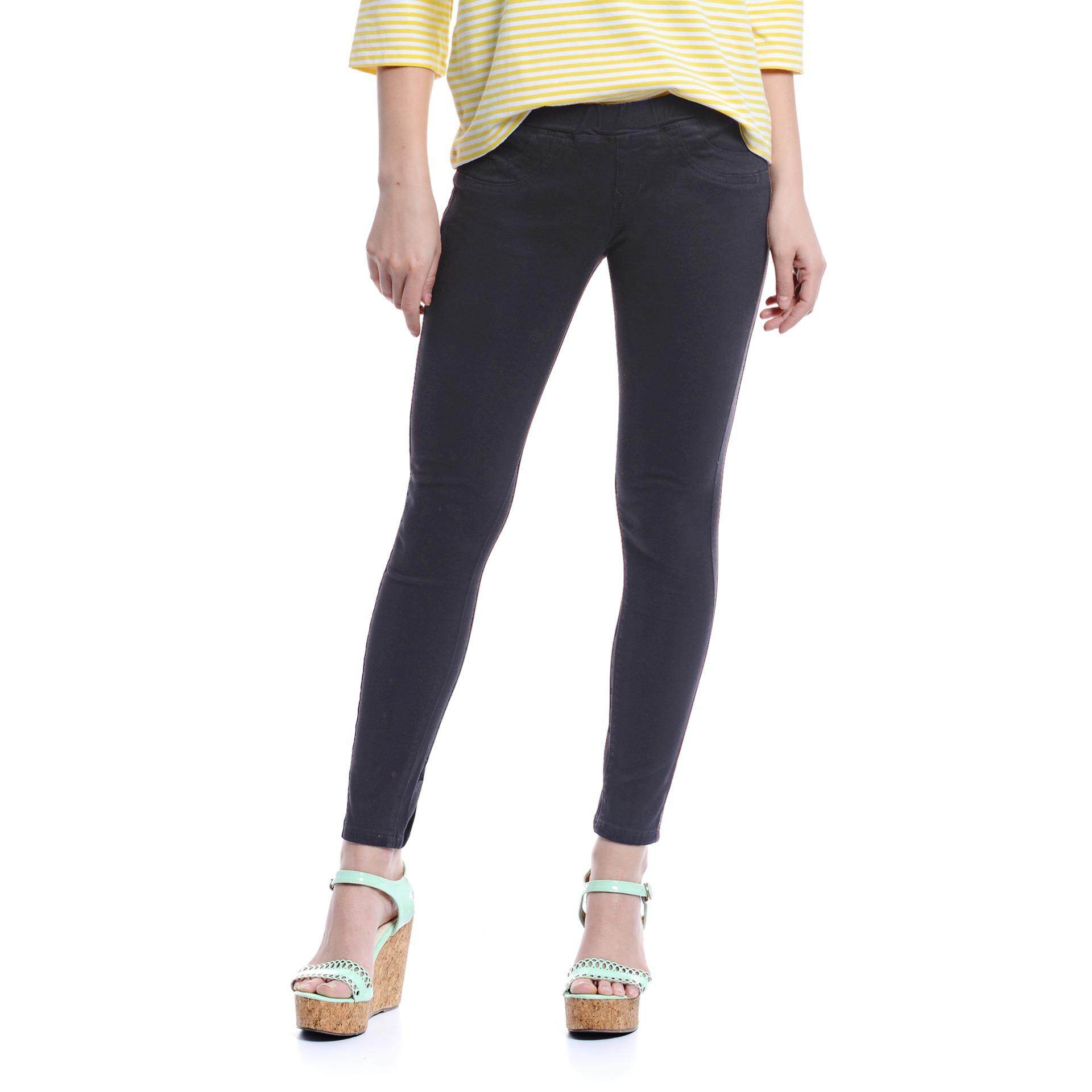Jazz & Co Mid Rise Women Jegging ( Black)