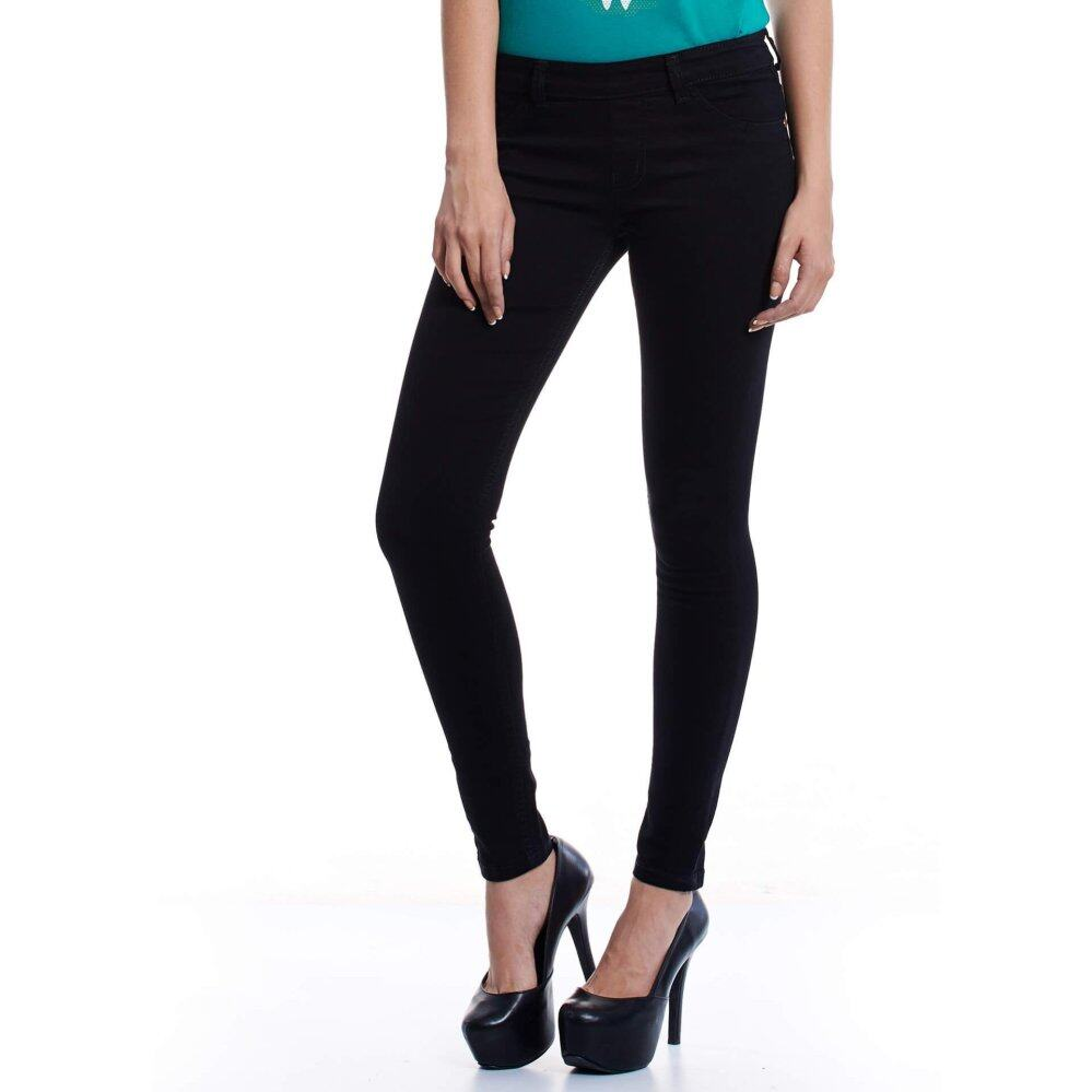 Jazz & Co Mid Rise Women Jegging (Black)