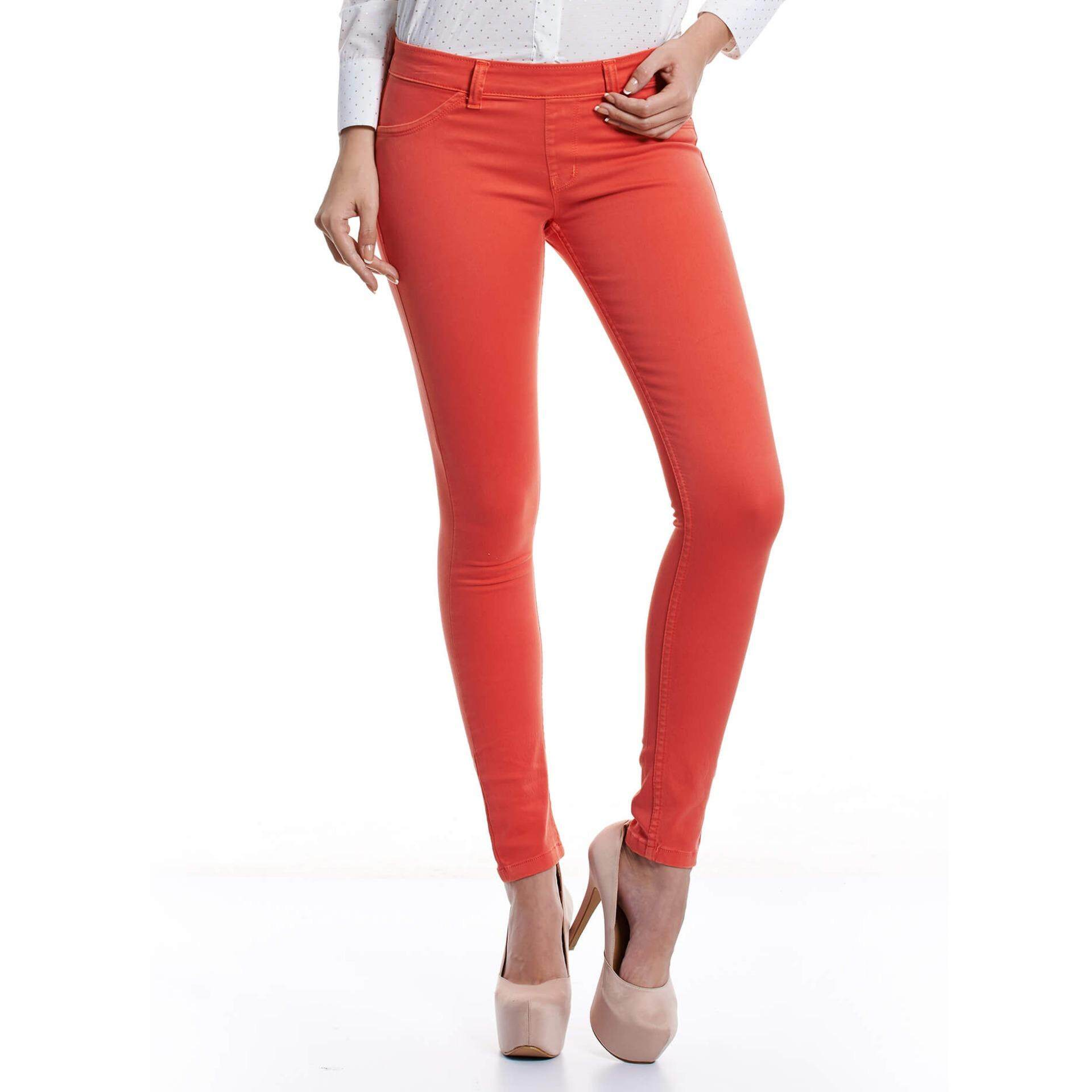 Jazz & Co Mid Rise Women Jegging  (Orange)