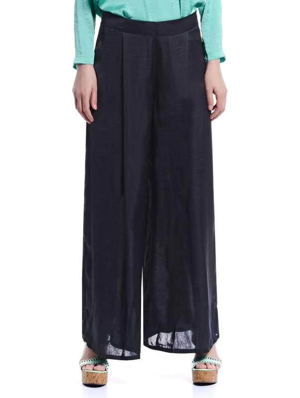 Jazz & Co Women Flared Long Pants ( Black )